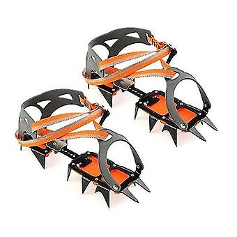 Crampones 14 puntos manganeso acero equipo de escalada crampones pinzas de hielo crampón dispositivo de tracción montañismo glaciar recorrido hielo caminar