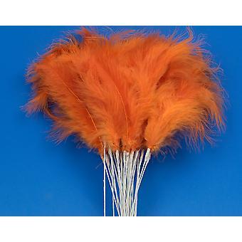 36 Orange 28cm Fjäder Spray Plockar för Blomsterhandlare och hantverk