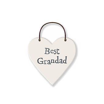 Beste bestefar- Mini tre hengende hjerte - Cracker Filler Gave