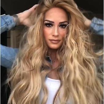Волнистые парики средней длины могут быть окрашены горячими, термостойкими париками естественного вида, ролевыми играми