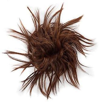 2 أجهزة الكمبيوتر الشخصية ميسي الشعر بون Tousled شعرة مرنة الفرقة Chignon الشعر مجعد Scrunchie Updo الغطاء
