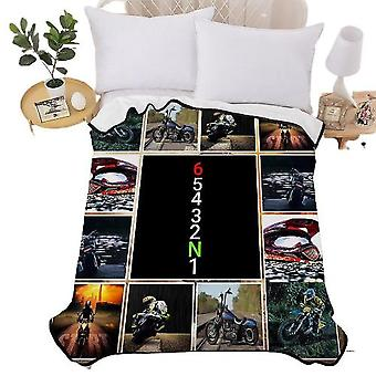 Dirt Bike Sports Theme 3d Blanket