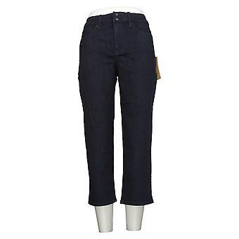 NYDJ Women's Jeans Skinny Crop avec fentes latérales - Rinse Blue A377693