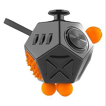 12 sidig fidget kub lindrar stress Relif leksak hand motionärer