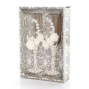 2pcs / Set Hochzeitsglas Kreative Perle Kristall Hochzeit Champagner Gläser| Weingläser