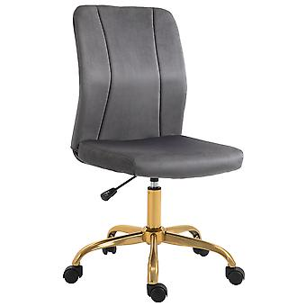 Vinsetto Office Chair Velvet Cover Desk Chair Ergonomic Computer Chair with 360° Swivel Wheels and Height Adjustable