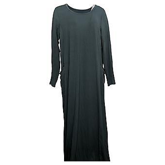 Modern Soul Dress Jersey Knit Maxi w/ Pockets Blue 671349