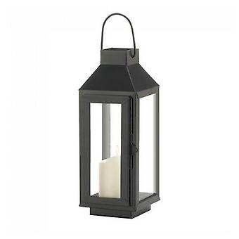 Gallery of Light Square Top Black Metal Lantern - 10 inches, Pack of 1