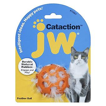 JW Pet Cataction Feather Ball Interactive Cat Toy  - 1 count