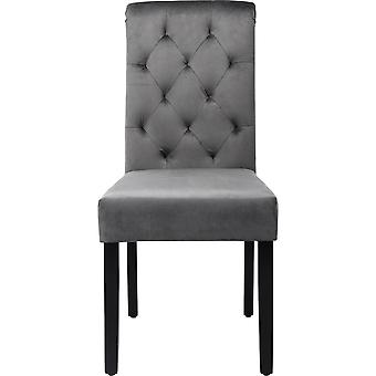 Grey Velvet Dining Chairs Set Of 2 With High Back