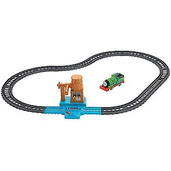 おもちゃの列車はトーマスの友人fxx64トラックマスター給水塔セットマルチカラーを設定します