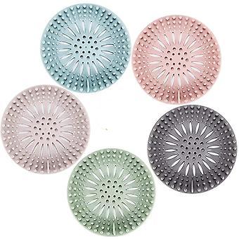 Dusche Abfluss Haarfalle Durable Silikon Haarfänger für Badezimmer Badewanne 5 Pack