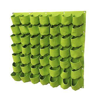 Zak verticale plantenbak met handschoenen en gids ademende vilt kweekzak voor kruiden