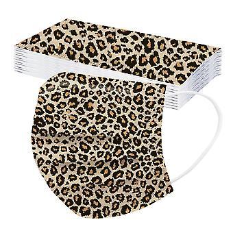 20st Vuxen Tre lager Engångs Dammsäker Skyddande Leopard Print Mask