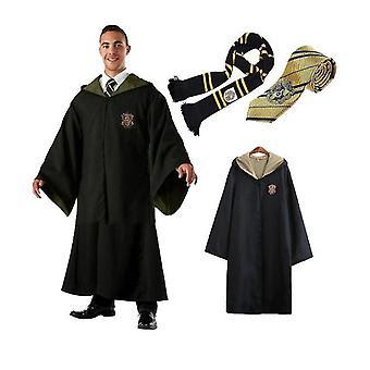 Dospělý čaroděj Harry Potter Fancy Šaty Plášť Kostým Cosplay 3 Pc Set-1