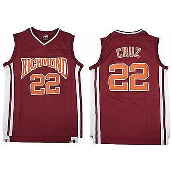 Men's Basketball Jersey 22 Cruz Richmond Sports Shirts Stitched Size S-xxl