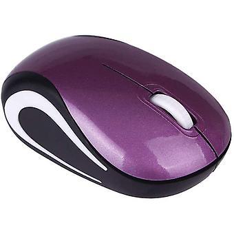 Számítógépes egér, hordozható 800/1200dpi Usb 3 gombok optikai 2,4g Mini vezeték nélküli egér lila