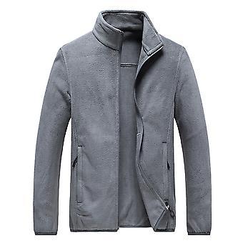 Silktaa Veste légère décontractée pour hommes Stand Collar Thermal Outwear