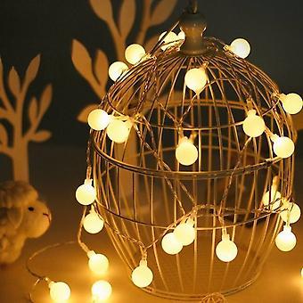 Luci a corda a sfera a globo a led, lampadario a luci fiabesche per giardino nuziale per feste all'aperto al coperto, luce decorativa impermeabile