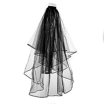 Bridal Veil With Insert Comb Black Wedding Dress Veil