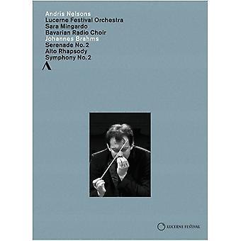 Johannes Brahms - Symphonie Nr 2. Rhapsodie Pour Alto [DVD] USA importeren