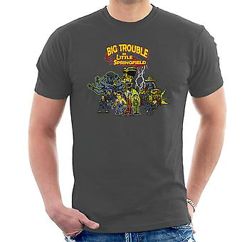 Big Trouble In Little Springfield Simpsons China Men's T-Shirt