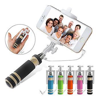 ONX3 (czarny) Samsung Galaxy Core Prime Mini Selfie Stick telefon komórkowy Monopod zbudowany zdalnego migawki + zasilacz regulowany Smartphone