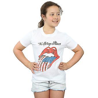 Rolling Stones T-Shirt für Mädchen amerikanische Zunge