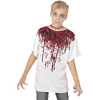Trajes de los niños t-shirt con sangre para niños