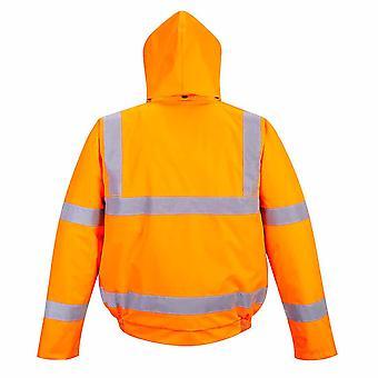 بورتويست الرجال مرحبا فيس سلامة ملابس العمل السكك الحديدية المسار الجانب مفجر سترة RIS