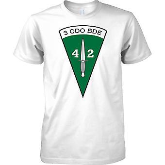 Lisensoitu MOD-Royal Marines 40 Commando-3 CDO Brigade Insignia-Miesten T-paita