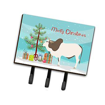 Carolines Treasures  BB9197TH68 Malvi Cow Christmas Leash or Key Holder