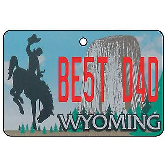 Wyoming - Best Dad License Plate Car Air Freshener
