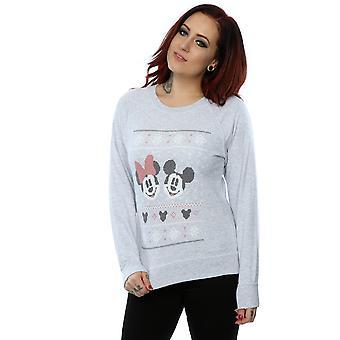 Disney Women's Mickey Mouse Christmas Sweatshirt