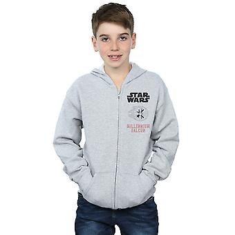Star Wars Boys Force Awakens Millennium Falcon Zip Up Hoodie