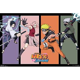 Naruto Team 7 Ii Poster Print