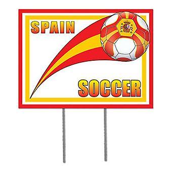 Spain Soccer Garden Sign