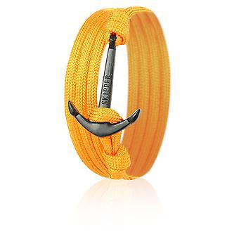 Bracelet de bracelet d'ancrage en Nylon Orange avec ancre noire le capitaine 6633