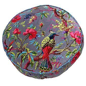 Riva hjem fugler av paradis Floral mønster rundt puten