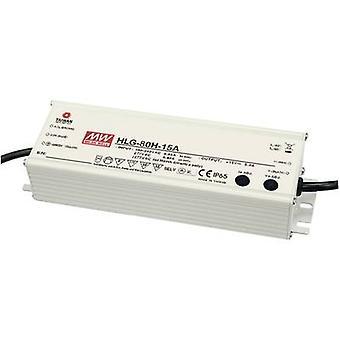 Mean Well HLG-80H-12A LED-Treiber, LED-Transformator Konstantspannung, Konstantstrom 60 W 5 A 12 V DC PFC-Schaltung, Überspannungsschutz, einstellbar