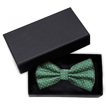 Fly loop polka Dots Fabio Farini points green white dotted bow tie