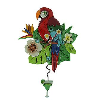 Allen Designs Polly Parrot Pendulum Wall Clock