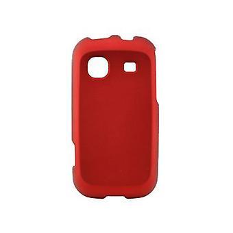 Sprint met rubber bekleede Snap-On-Cover voor Samsung Trender SPH-M380 (rood)
