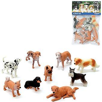 Huisdier wereld honden 9 pc tas