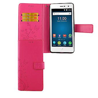 Blade ZTE L7 cubierta de la bolsa protectora caso de teléfono celular tapa ranura rosa caso