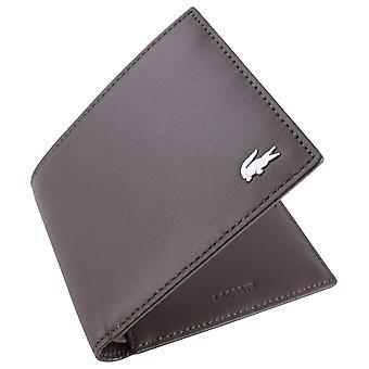 Lacoste Small Billfold Wallet - Dark Brown