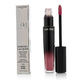 Lancome L'absolu Lacquer Buildable Shine & Color Longwear Lip Color - # 312 First Date - 8ml/0.27oz