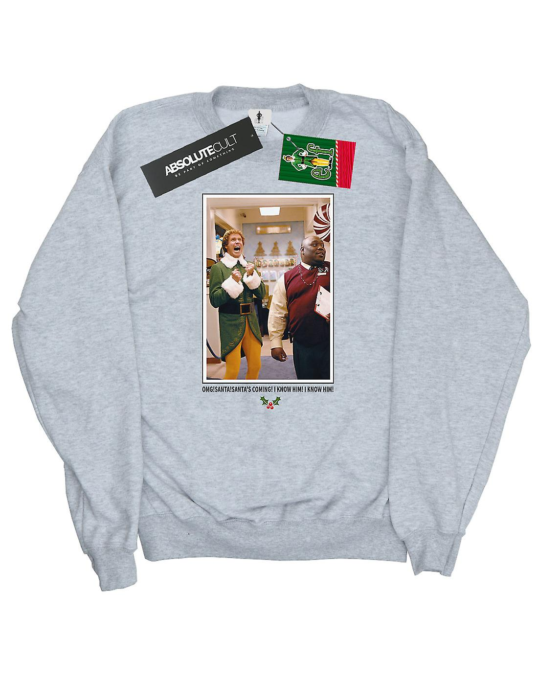 Elf Men's OMG Santa Photo Sweatshirt