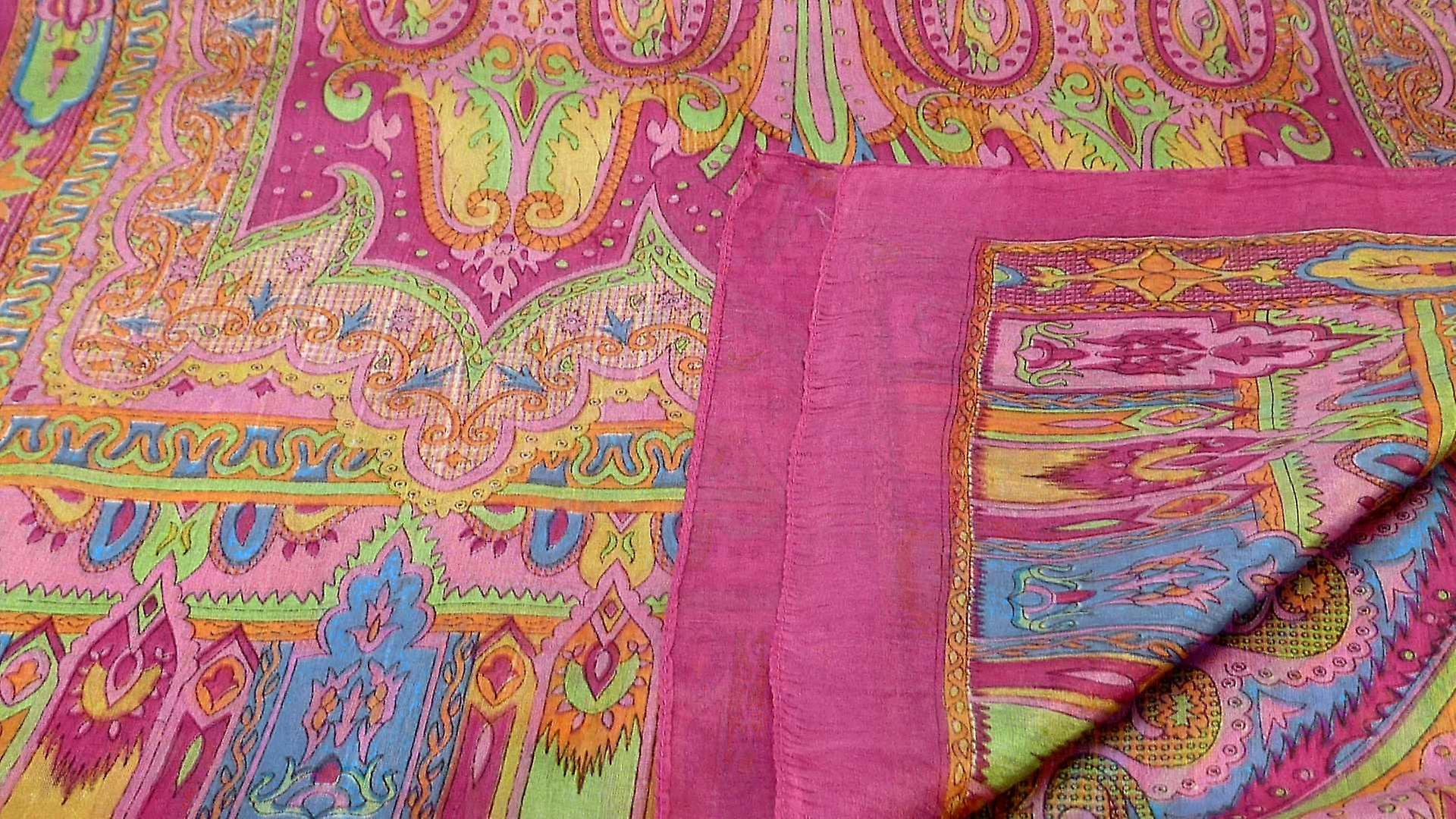 Mulberry Silk Traditional Long Scarf Chadar Rose by Pashmina & Silk