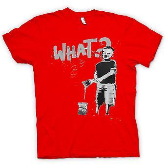Womens T-shirt - Banksy Graffiti-Kunst - was